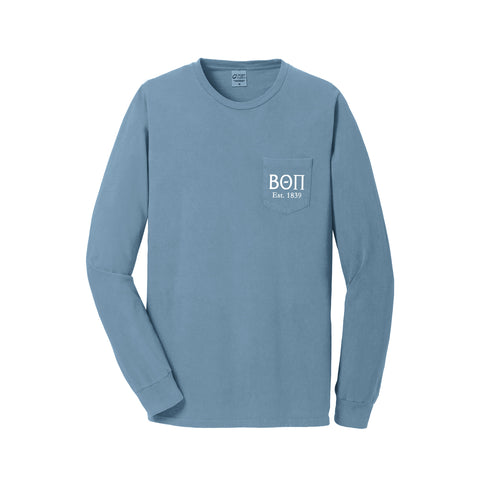 Beta Theta Pi Long Sleeve Pocket Tee