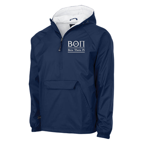 Beta Theta Pi Flannel Lined Windbreaker