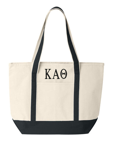 Kappa Alpha Theta Large Canvas Tote Bag
