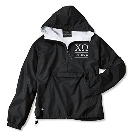 Chi Omega Classic Solid Pullover Windbreaker - Lined