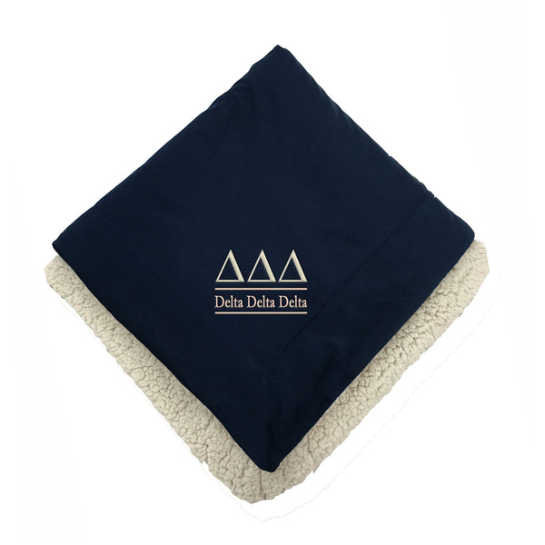 Delta Delta Delta Sherpa Throw Blanket