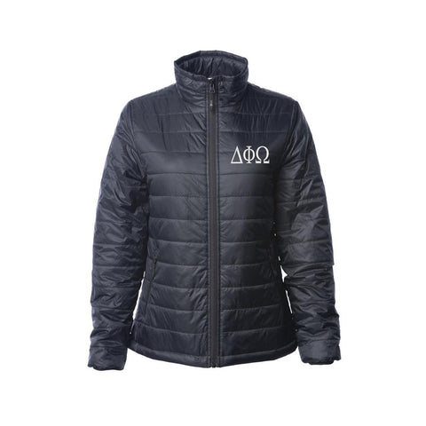 Delta Phi Omega Puffy Jacket