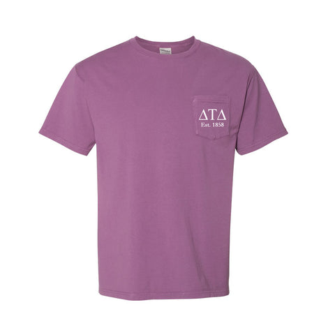 Delta Tau Delta Short Sleeve Pocket Tee