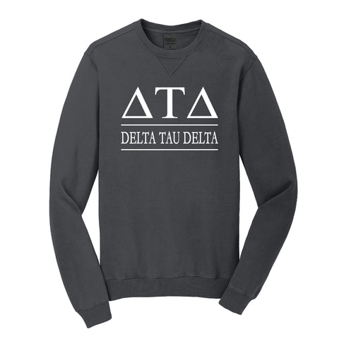 Delta Tau Delta Beach Washed Crewneck Sweatshirt