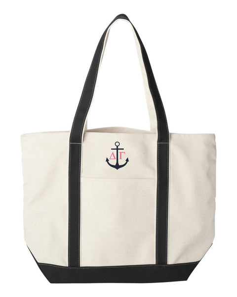 Delta Gamma Anchor Canvas Tote Bag