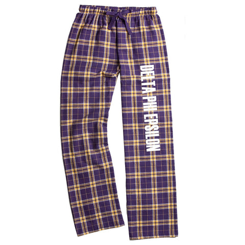 Delta Phi Epsilon Flannel Pants