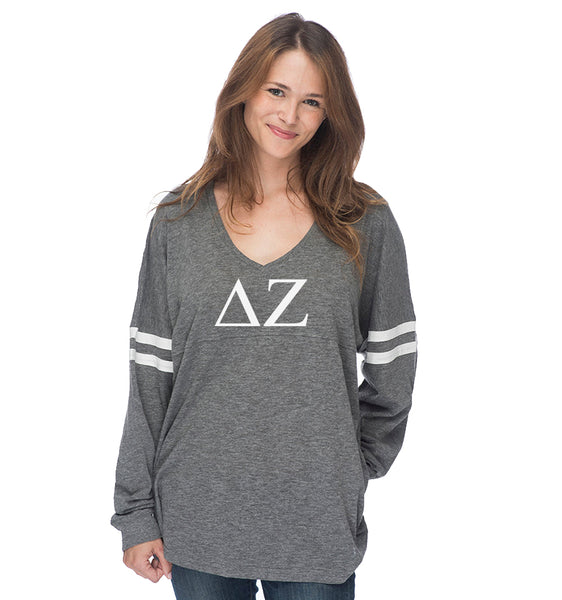 Delta Zeta Varsity Long Sleeve T-Shirt