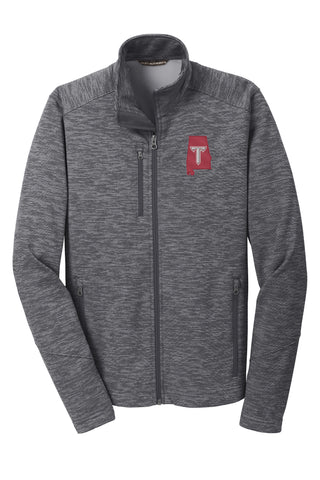 Troy University Digi Stripe Fleece Jacket - Mens