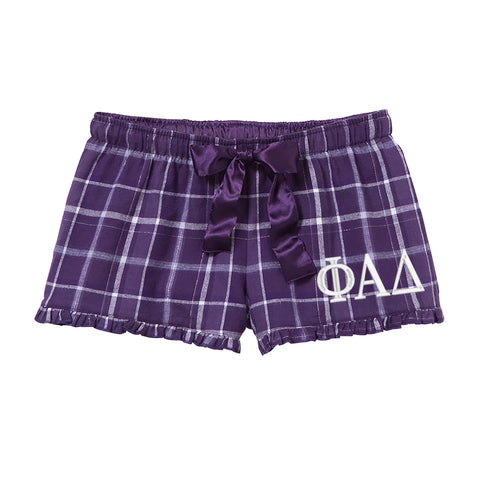 Phi Alpha Delta Flannel Boxer Shorts - Plaid