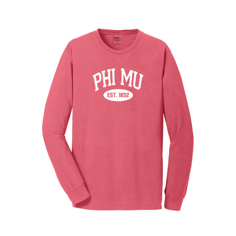 Phi Mu Long Sleeve Vintage T-Shirt