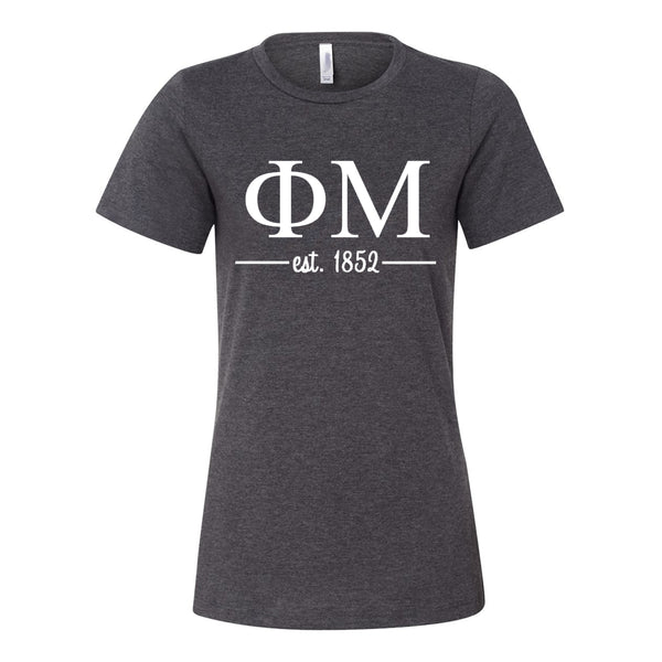 Phi Mu Women's Relaxed Fit Short Sleeve Jersey Tee