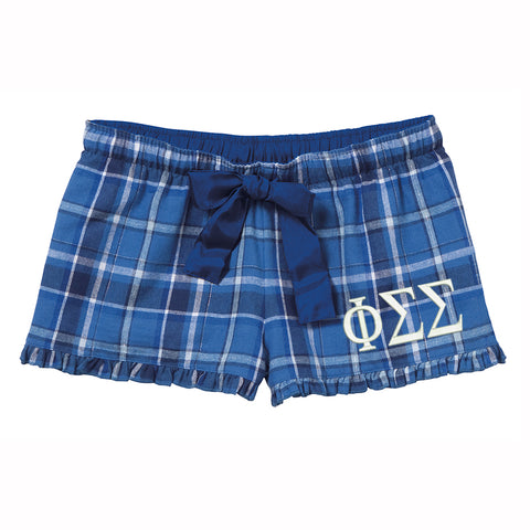 Phi Sigma Sigma Flannel Boxer Shorts