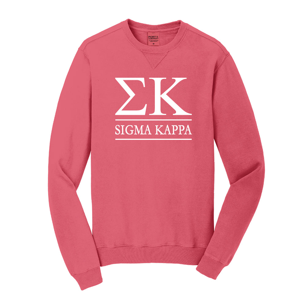 Sigma Kappa Vintage Color Crewneck Sweatshirt – Sorority Letters Shop