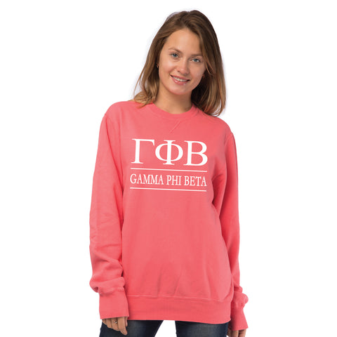 Gamma Phi Beta Vintage Color Crewneck Sweatshirt
