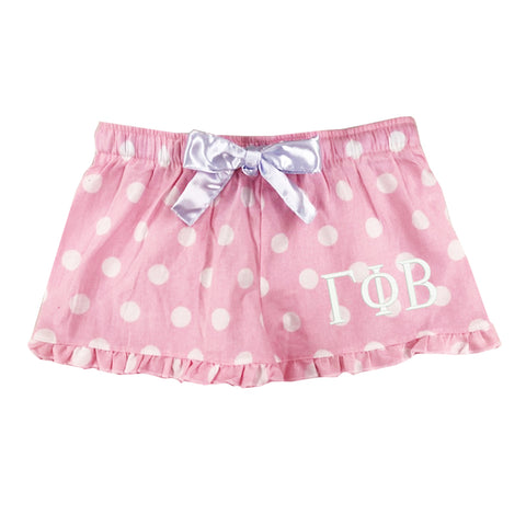 Gamma Phi Beta Flannel Boxer Shorts - Polka Dot