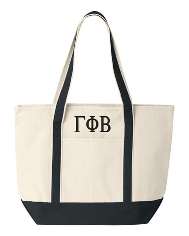 Gamma Phi Beta Large Canvas Tote Bag