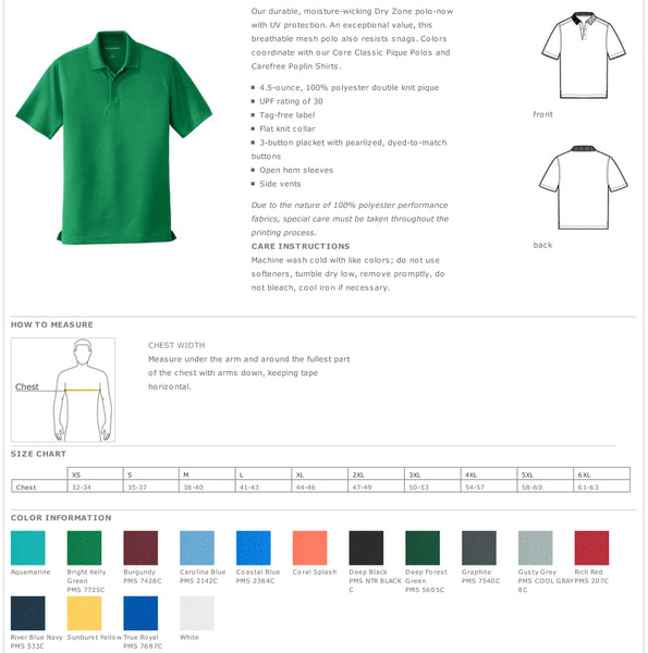 Alpha Gamma Rho Performance Polo - Short Sleeve