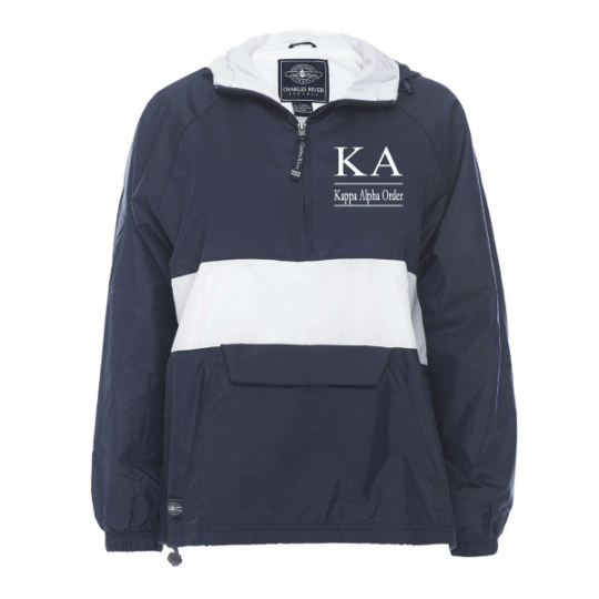 Kappa Alpha Order Rugby Striped Lined Windbreaker