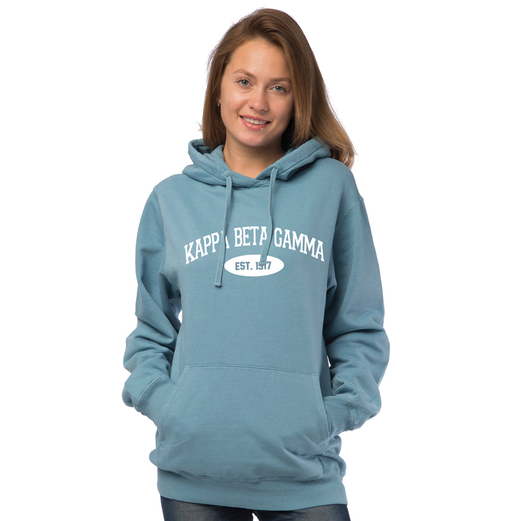 Kappa Beta Gamma Hooded Pullover Vintage Sweatshirt