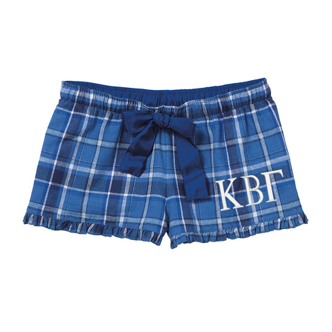 Kappa Beta Gamma Flannel Boxer Shorts - Plaid