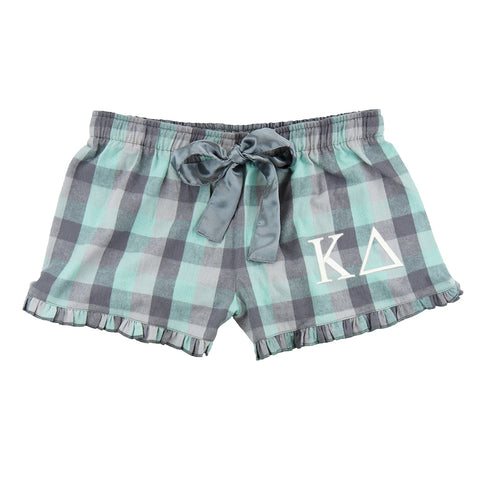 Kappa Delta Flannel Boxer Shorts - Plaid