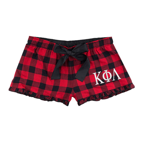 Kappa Phi Lambda Flannel Boxer Shorts - Plaid