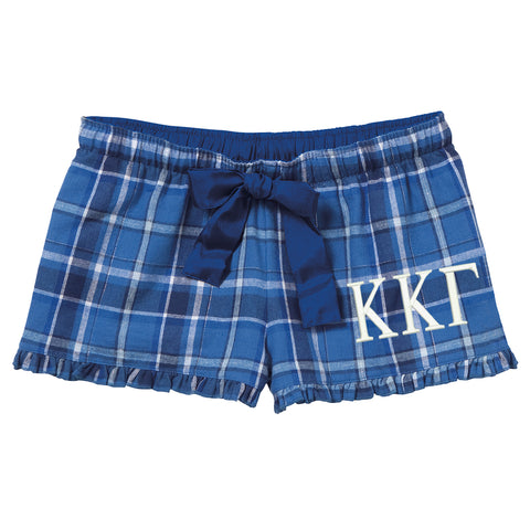Kappa Kappa Gamma Flannel Boxer Shorts - Plaid