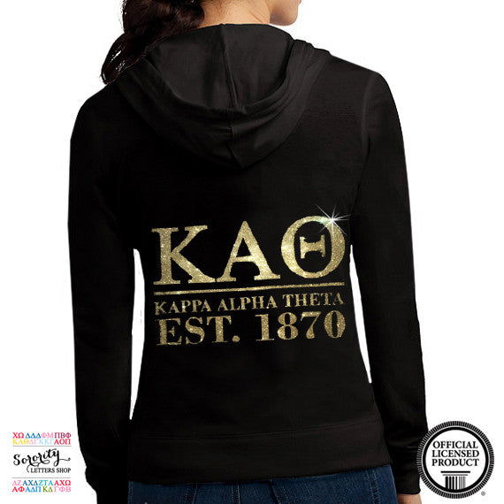 Kappa Alpha Theta Glitter Zip Up