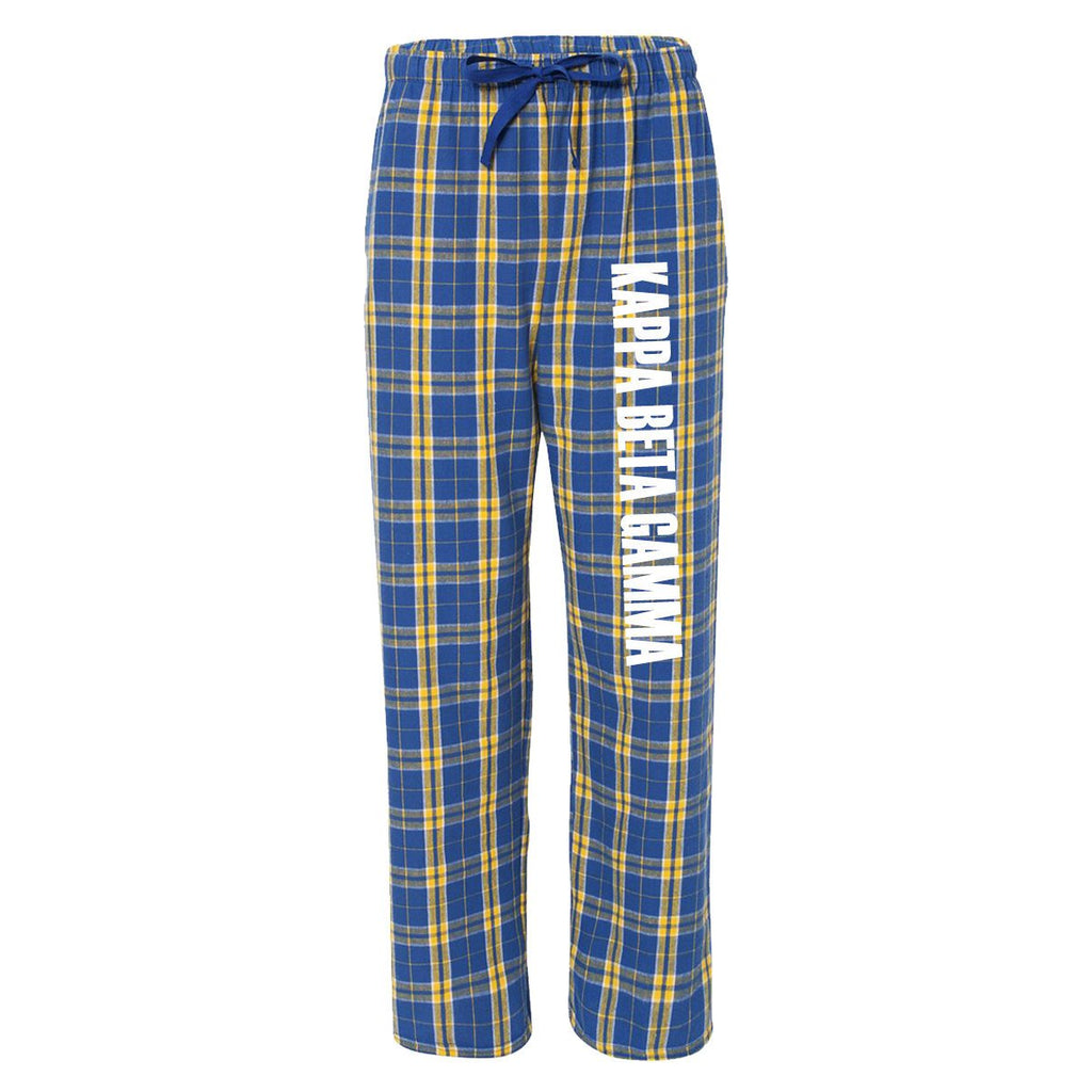 Kappa Beta Gamma Flannel Pants