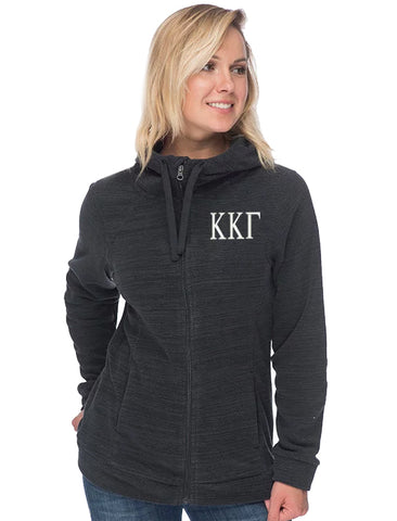 Kappa Kappa Gamma Fleece Hoodie with Scuba Neck