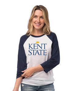 Kent State University Raglan Baseball T-Shirt