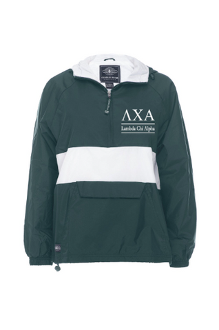 Lambda Chi Alpha Rugby Striped Lined Windbreaker