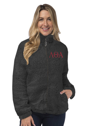 Lambda Theta Alpha Sherpa Full Zip Jacket