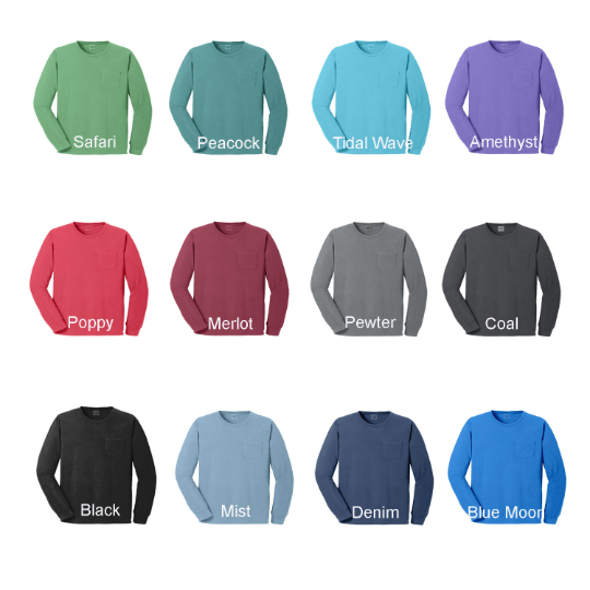 Sigma Alpha Epsilon Long Sleeve Pocket Tee