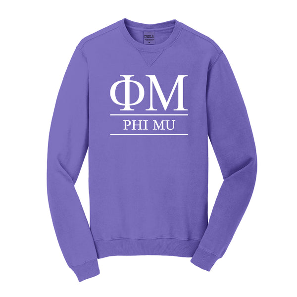 Phi Mu Vintage Color Crewneck Sweatshirt
