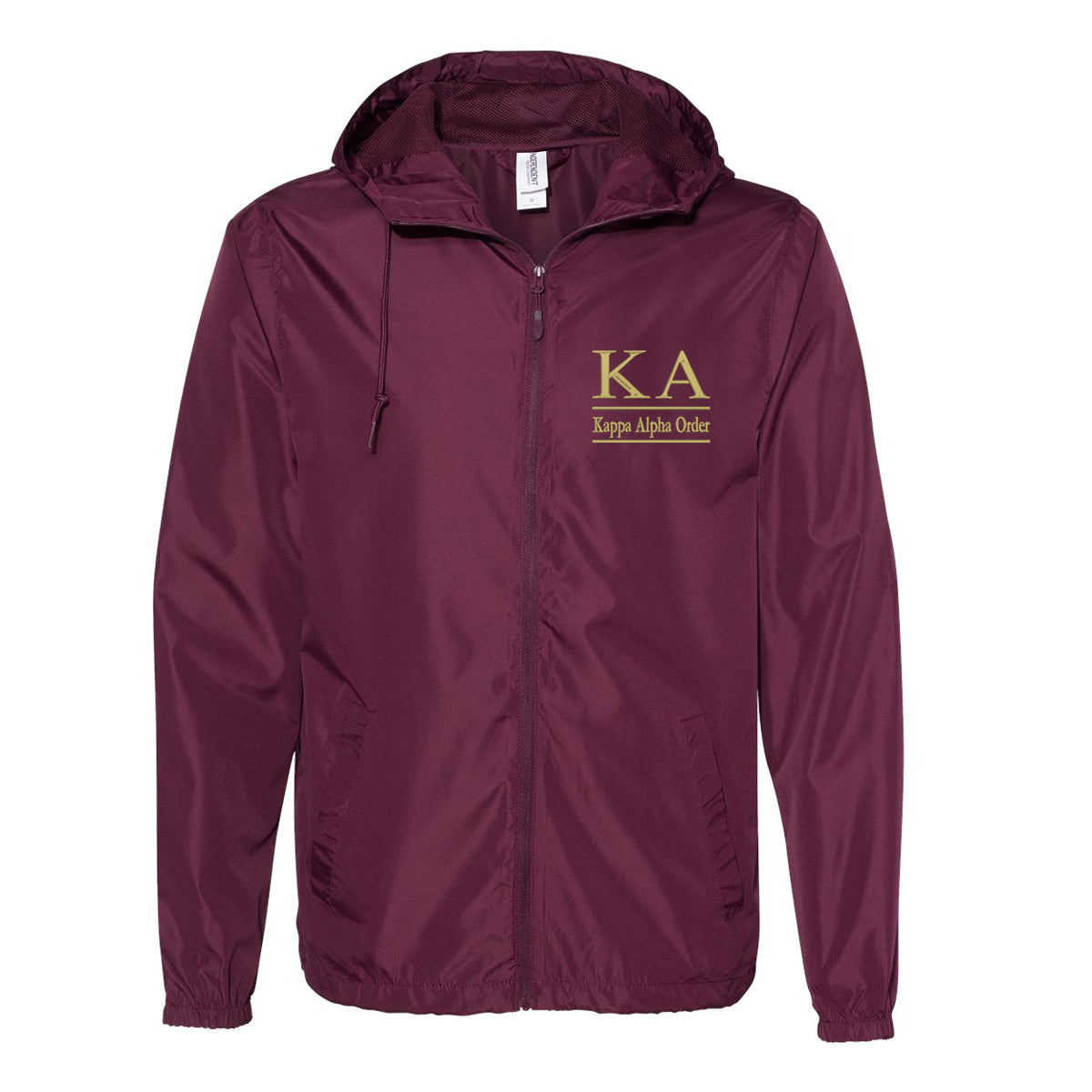 Kappa Alpha Order Full Zip Windbreaker