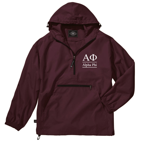 Alpha Phi Classic Solid Lightweight Pullover Windbreaker