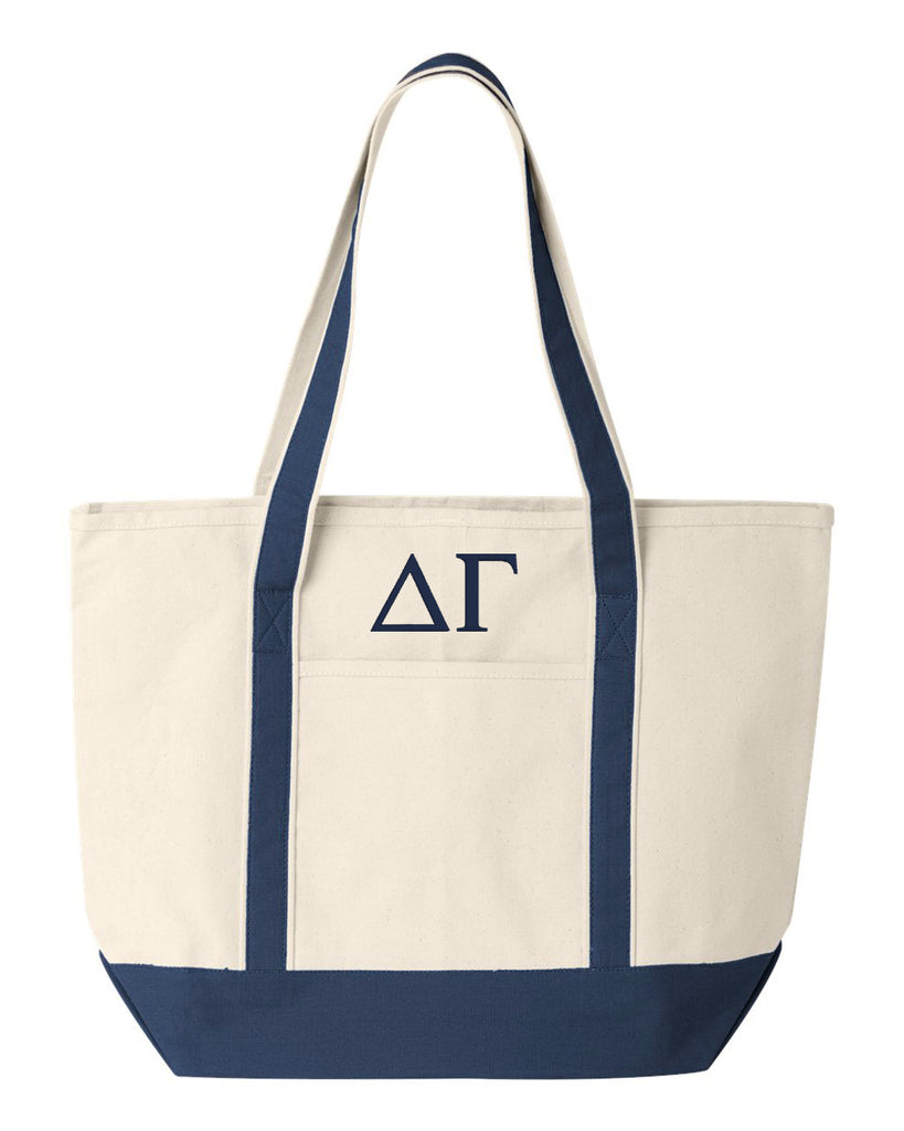 Delta Gamma Large Canvas Tote Bag