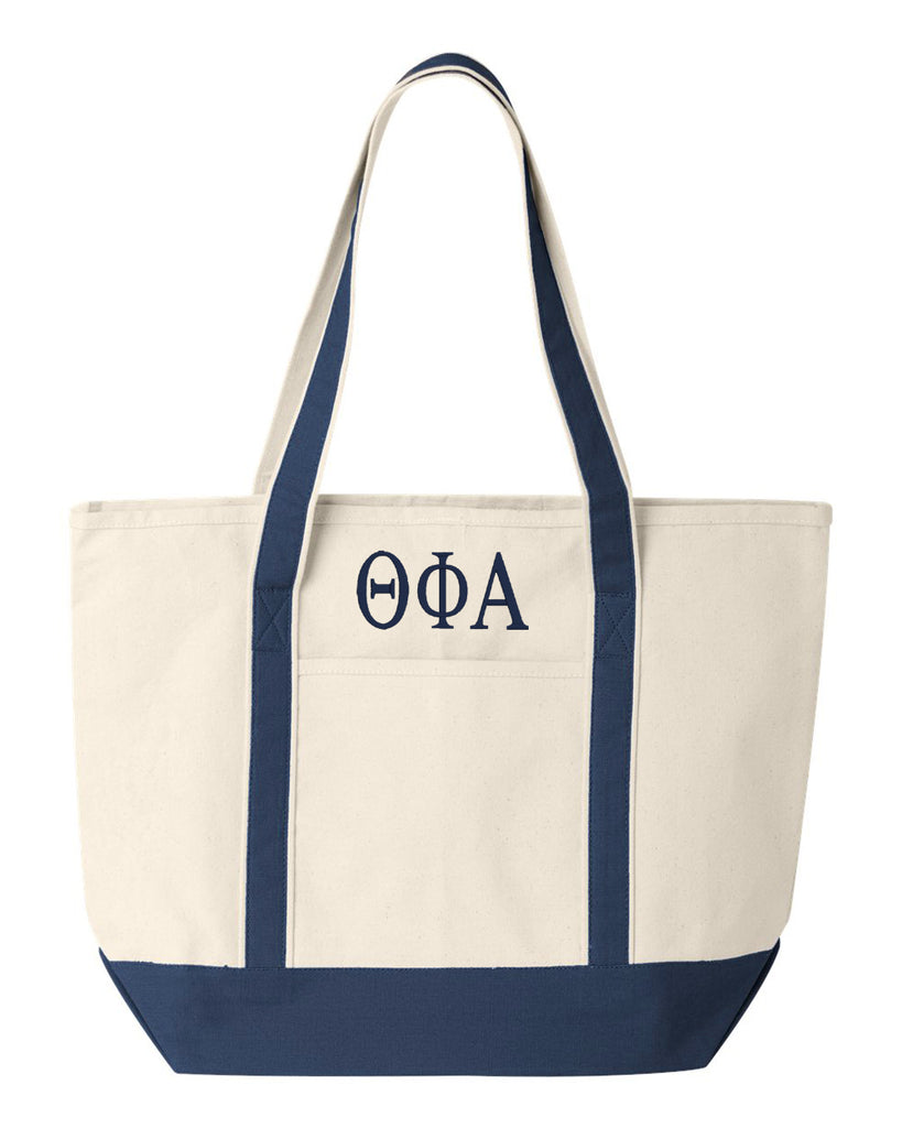 Theta Phi Alpha Large Canvas Tote Bag