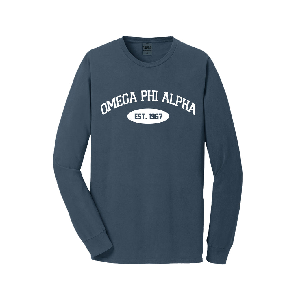 Omega Phi Alpha Long Sleeve Vintage T-Shirt