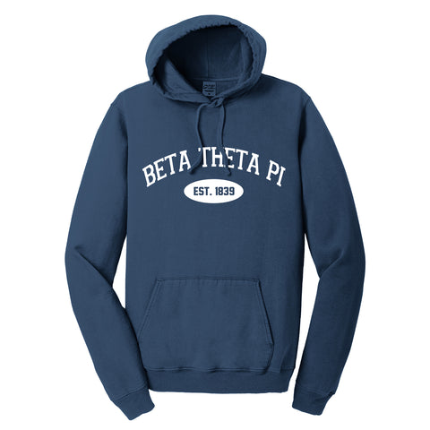 Beta Theta Pi Hooded Pullover Vintage Sweatshirt