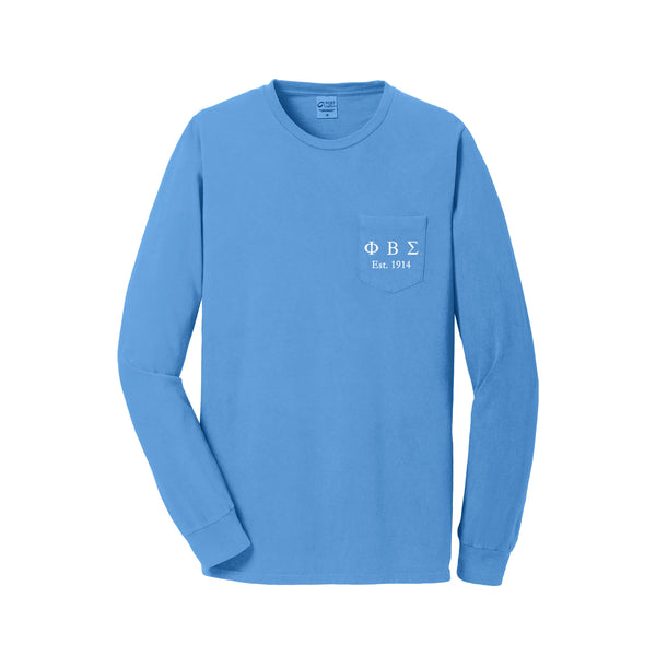 Phi Beta Sigma Long Sleeve Pocket Tee
