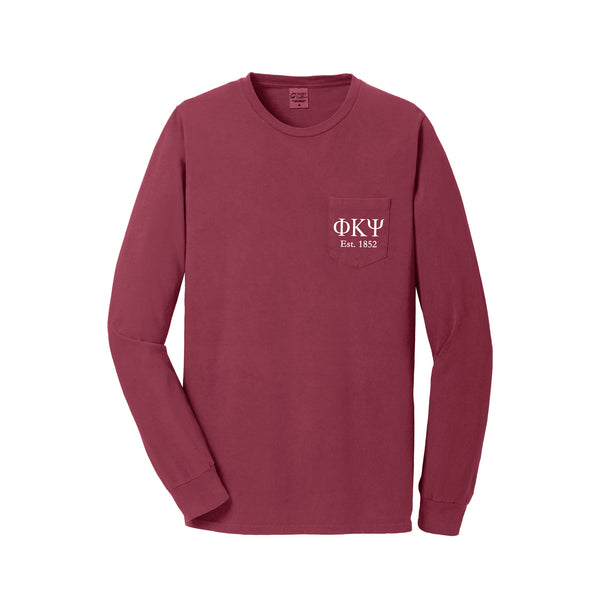 Phi Kappa Psi Long Sleeve Pocket Tee