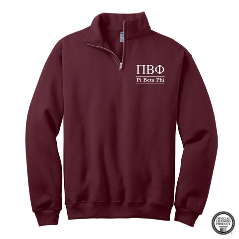 Pi Beta Phi Quarter Zip Pullover