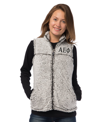 Sorority Letters Shop Alpha Epsilon Phi Puffy Vest