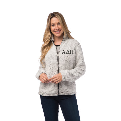Alpha Delta Pi Sherpa Full Zip Jacket