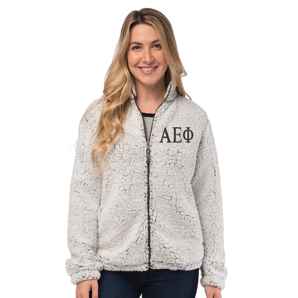 Alpha Epsilon Phi Sherpa Full Zip Jacket