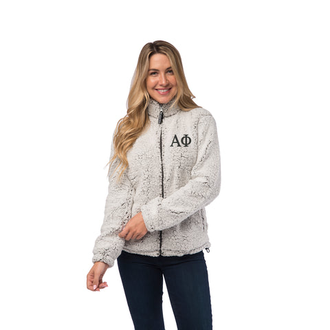 Alpha Phi Sherpa Full Zip Jacket