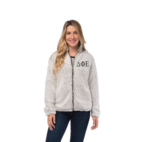 Delta Phi Epsilon Sherpa Full Zip Jacket