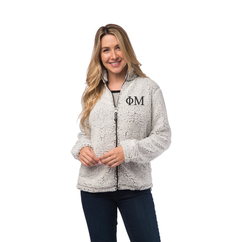 Phi Mu Sherpa Full Zip Jacket